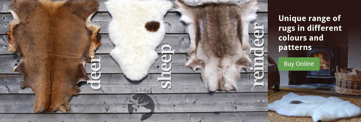 deer rugs, sheep rugs and reindeer rugs online